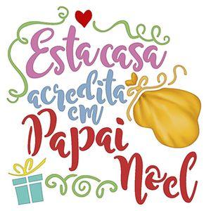 Stencil-Litoarte-Natal-9x9cm-Pintura-Simples-STNX-036-Esta-Casa-Acredita-em-Papai-Noel