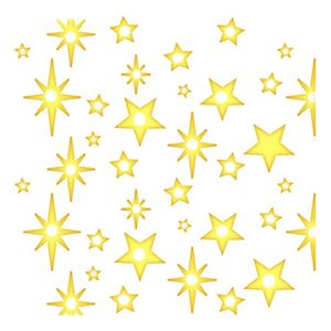 Stencil-Litoarte-Natal-9x9cm-Pintura-Simples-STNX-044-Estampa-de-Estrelas