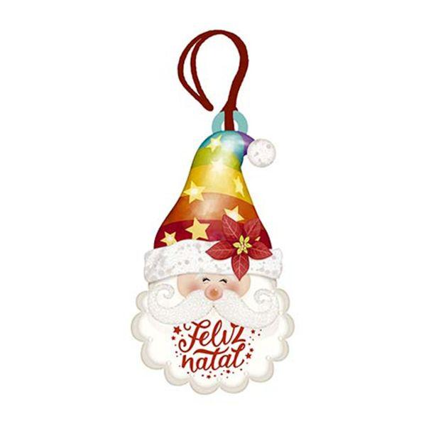 Placa-TAG-MDF-Decorativa-Natal-Litoarte-DHT4N-006-86x5cm-Touca-Papai-Noel-Feliz-Natal