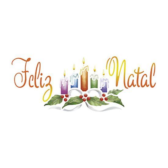 Stencil-Litoarte-Natal-17x65cm-Pintura-Simples-STNP012-Velas-e-Feliz-Natal