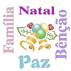 Stencil-Litoarte-Natal-20x20cm-Pintura-Simples-STXXN-003-Sino-Poinsetias-e-Palavras