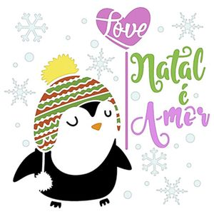 Stencil-Litoarte-Natal-20x20cm-Pintura-Simples-STXXN-005-Pinguim-Balao-Frase