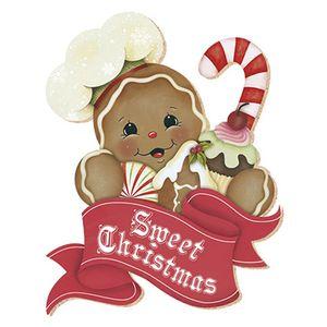 Aplique-Decoupage-Natal-Litoarte-APMN8-034-em-Papel-e-MDF-8cm-Biscoito-Sweet-Christmas