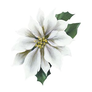 Aplique-Decoupage-Natal-Litoarte-APMN8-076-em-Papel-e-MDF-8cm-Poinsetia-Branca