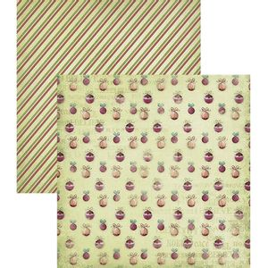 Papel-Scrapbook-Natal-Litoarte-305x305cm-SDN-015-Vintage-Bolas
