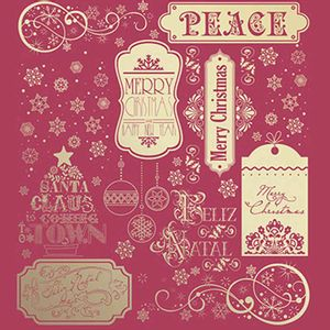 Papel-Scrapbook-Hot-Stamping-Natal-Litoarte-SEHN-001-305x305cm-Vermelho-com-Hot-Dourado