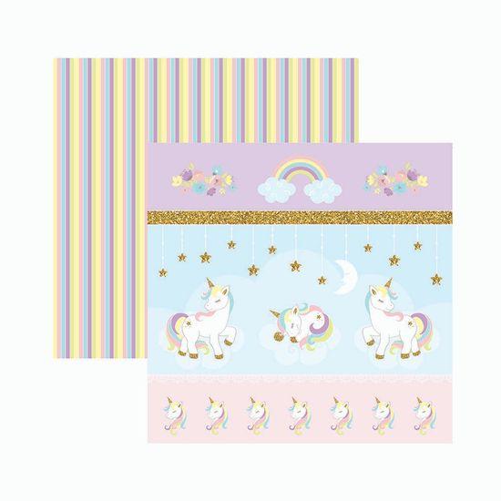 Papel-Scrapbook-Toke-e-Crie-SDF836-305x305cm-Unicornio-Cenarios-e-Recortes-By-Mariceli
