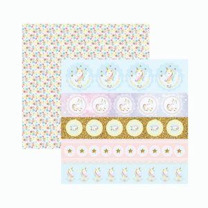 Papel-Scrapbook-Toke-e-Crie-SDF837-305x305cm-Unicornio-Selos-e-Tags-By-Mariceli