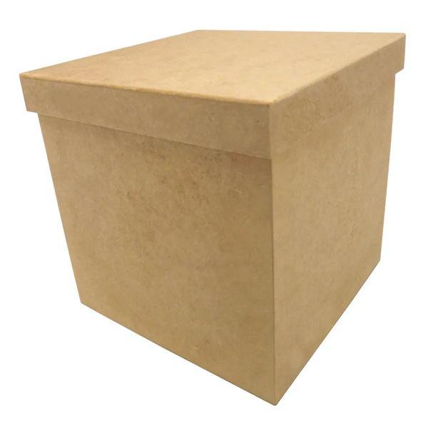 Porta-Panetone-em-MDF-Quadrado-com-Tampa-de-Sapato-Lisa-20x20x20cm-Natal---Palacio-da-Arte