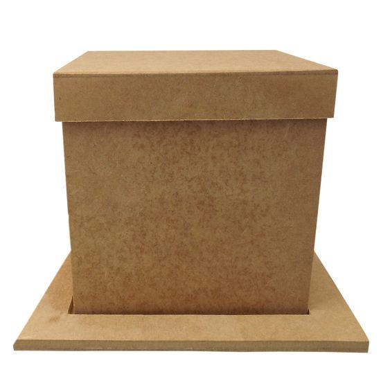 Porta-Panetone-em-MDF-Quadrado-com-Base-e-Tampa-Lisa-20x20x20cm-Natal---Palacio-da-Arte