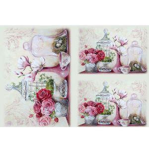 Papel-Decoupage-Litocart-LD-936-34x48cm-Vasos-Decorativos-com-Flores
