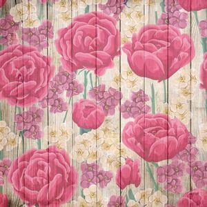 Papel-Scrapbook-Litocart-LSCE-052-305x305cm-Flores-Elegantes-Fundo-Madeira