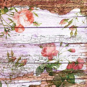 Papel-Scrapbook-Litocart-LSCE-054-305x305cm-Flores-e-Botoes-Fundo-Madeira
