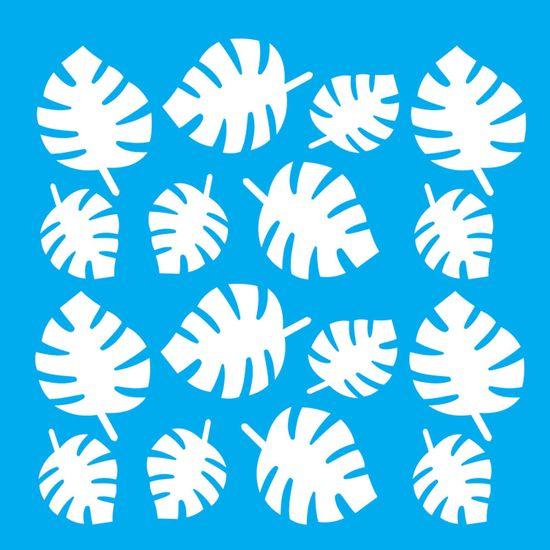 Stencil-Litocart-20x20cm-Pintura-Simples-LSQ-144-Estampa-Folhas