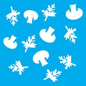 Stencil-Litocart-20x20cm-Pintura-Simples-LSQ-150-Estampa-Cogumelos