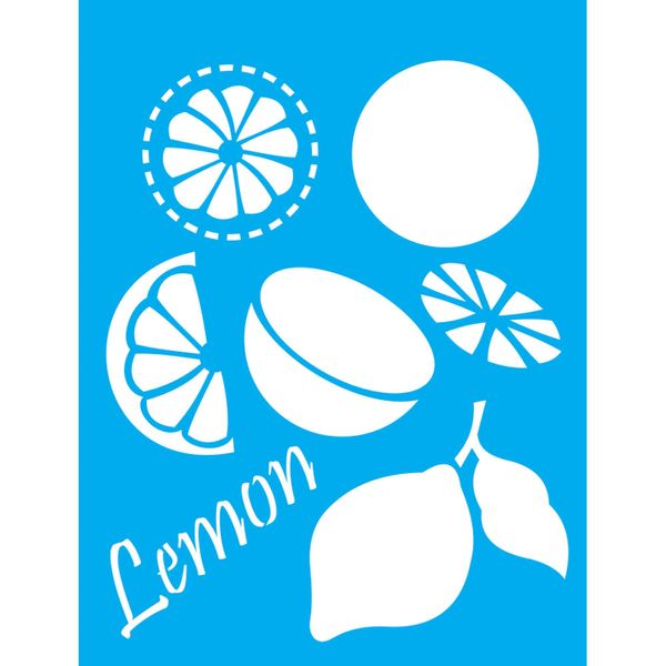 Stencil-Litocart-20x15cm-Pintura-Simples-LSM-116-Limao