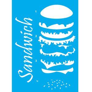Stencil-Litocart-30x20cm-Pintura-Simples-LSS-045-Sanduiche