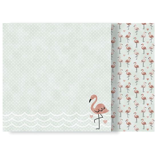 Papel-Scrapbook-WER177-305x305cm-Escape-to-Paradise-Flamingos