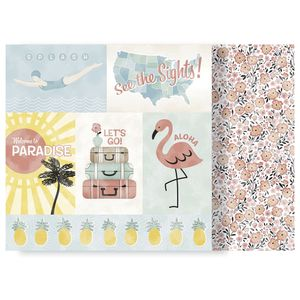 Papel-Scrapbook-WER178-305x305cm-Escape-to-Paradise-Viagem