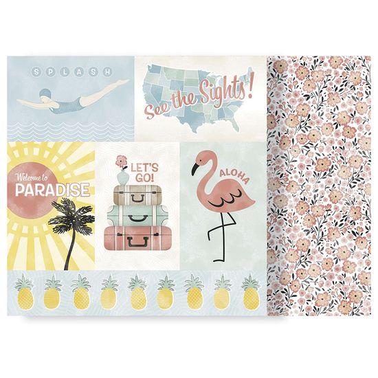 Papel-Scrapbook-WER178-305x305cm-Escape-to-Paradise-Viagem