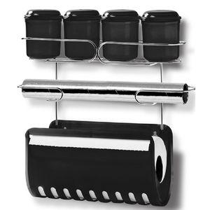 Porta-Condimentos-com-Suporte-para-Papel-Duplo-Niquelart-317-7-Preto