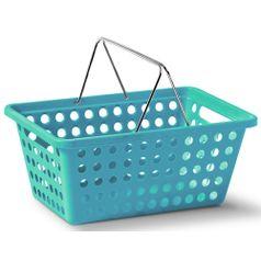 Cesta-Organizadora-com-Alca-n°2-Niquelart-359-6-Cromo-Colors-29x19x125cm-Turquesa