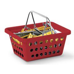 Cesta-Organizadora-com-Alca-n°1-Niquelart-358-5-Cromo-Colors-21x155x9cm-Vermelho