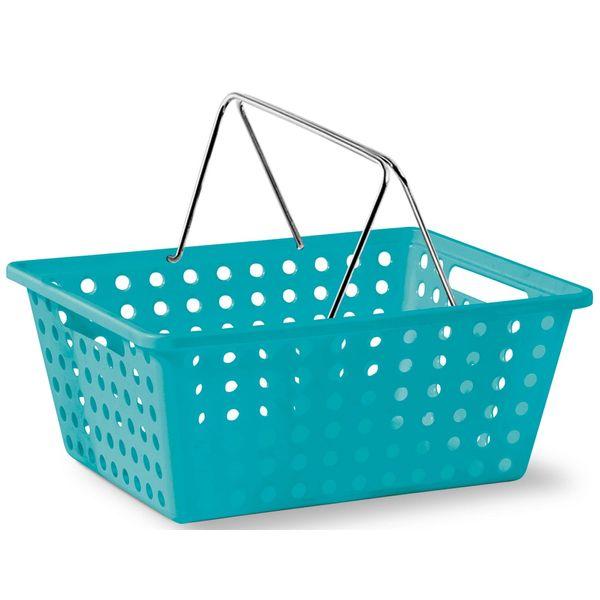 Cesta-Organizadora-com-Alca-n°3-Niquelart-360-6-Cromo-Colors-39x305x16cm-Turquesa