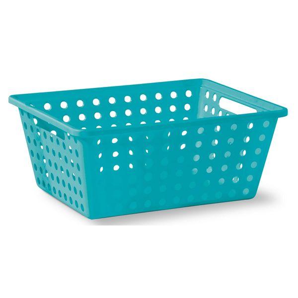 Cesta-Organizadora-sem-Alca-n°3-Niquelart-357-6-Cromo-Colors-39x305x16cm-Turquesa