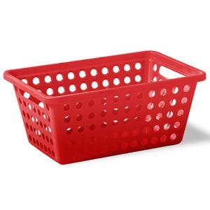 Cesta-Organizadora-sem-Alca-n°3-Niquelart-357-5-Cromo-Colors-39x305x16cm-Vermelho