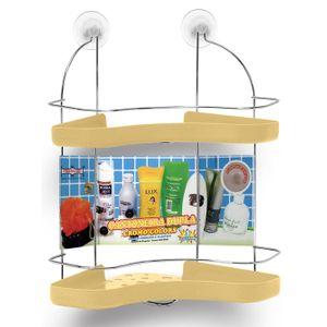 Porta-Shampoo-Cantoneira-Dupla-Niquelart-306-11-Cromo-Colors-Aco-e-Plastico-Areia
