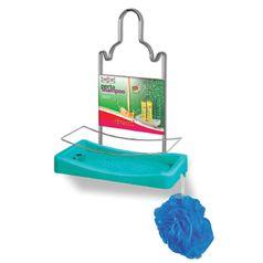 Porta-Shampoo-Simples-Niquelart-348-6-Cromo-Colors-Aco-e-Plastico-Turquesa