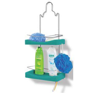 Porta-Shampoo-Duplo-Niquelart-349-6-Cromo-Colors-Aco-e-Plastico-Turquesa