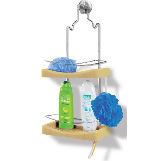 Porta-Shampoo-Duplo-Niquelart-349-11-Cromo-Colors-Aco-e-Plastico-Areia