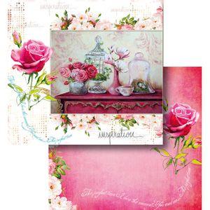 Papel-Scrapbook-Litocart-LSCD-432-Dupla-Face-305x305cm-Belas-Rosas