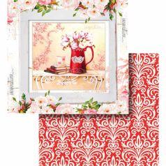 Papel-Scrapbook-Litocart-LSCD-433-Dupla-Face-305x305cm-Jarra-com-Flores