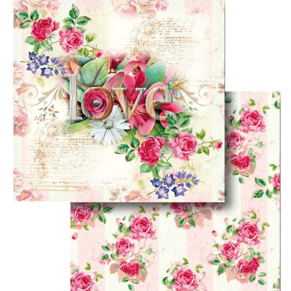 Papel-Scrapbook-Litocart-LSCD-434-Dupla-Face-305x305cm-Flores-Love