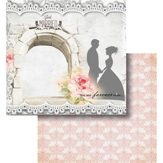 Papel-Scrapbook-Litocart-LSCD-435-Dupla-Face-305x305cm-Enfim-Casados