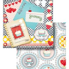 Papel-Scrapbook-Litocart-LSCD-436-Dupla-Face-305x305cm-Livro-de-Receitas