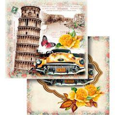 Papel-Scrapbook-Litocart-LSCD-437-Dupla-Face-305x305cm-Torre-de-Pisa