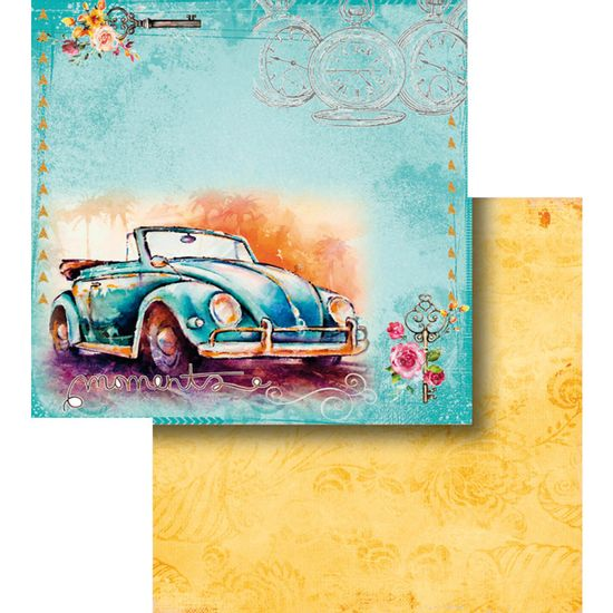 Papel-Scrapbook-Litocart-LSCD-439-Dupla-Face-305x305cm-Fusca-Conversivel