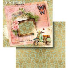 Papel-Scrapbook-Litocart-LSCD-442-Dupla-Face-305x305cm-Lambreta-e-Arabescos
