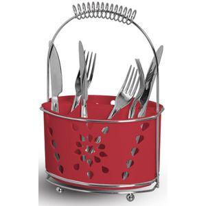 Porta-Talheres-e-Escorredor-Mimo-Duplo-com-Alca-Niquelart-333-5-6-Divisoes-Vermelho