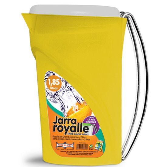 Jarra-Royalle-Niquelart-330-010-185L-Amarelo-Tampa-Transparente-Cabo-Aco-Cromado