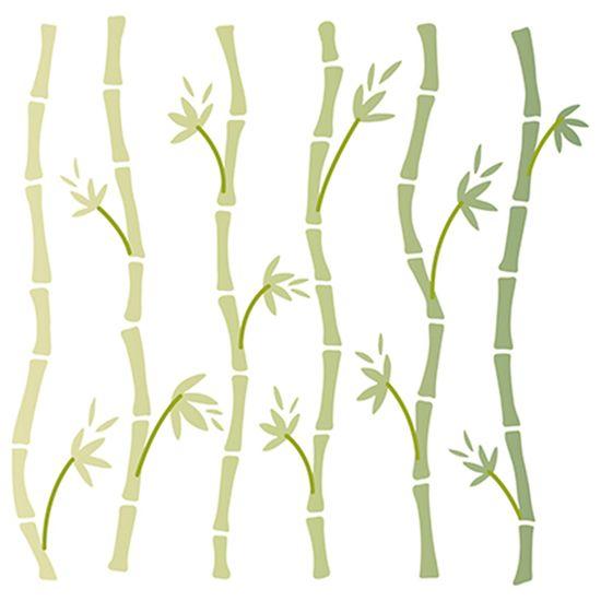 Stencil-Litoarte-14x14-STA-118-Bambus