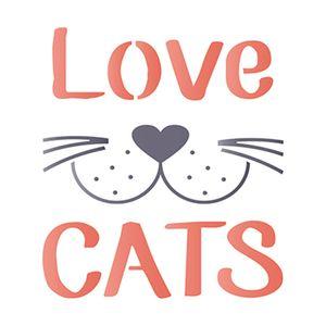 Stencil-Litoarte-14x14-STA-119-Love-Cats