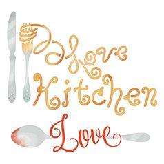 Stencil-Litoarte-14x14-STA-124-Love-Kitchen