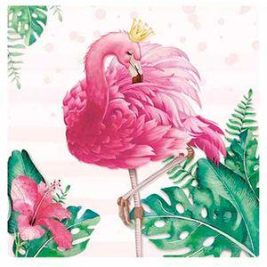 Papel-para-Arte-Francesa-Litoarte-21x21-AFQ-417-Flamingo-Tropical-com-Coroa