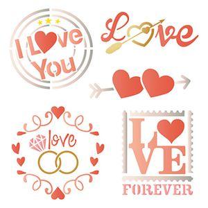 Stencil-Litoarte-20x20-STXX-103-Love-Selos-e-Arranjo