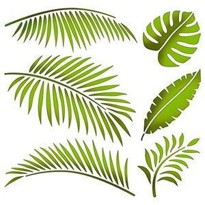 Stencil-Litoarte-20x20-STXX-133-Folhas-Tropicais